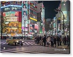 Shibuya Crossing, Tokyo Japan Acrylic Print