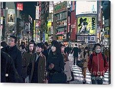 Shibuya Crossing, Tokyo Japan Poster 2 Acrylic Print