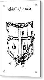 Shield Of Faith Acrylic Print by Maryn Crawford