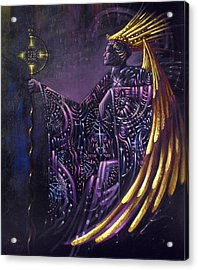 Shielded By Ineffable Names Thus I Rule Acrylic Print by Stephen Lucas