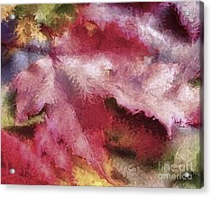 Shimmering Leaves Acrylic Print by Marilyn Sholin