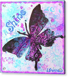 Shine Butterfly Acrylic Print