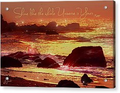 Shine Like The Universe  Acrylic Print