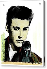 Shine On Youth  Ricky Nelson Acrylic Print by Iconic Images Art Gallery David Pucciarelli