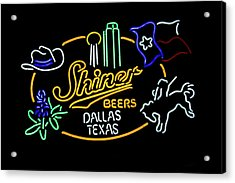 Shiner Beers Dallas Texas Acrylic Print