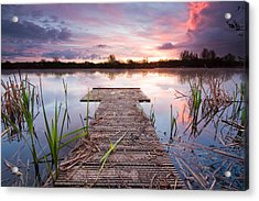 Shinewater Lake Sunrise Acrylic Print