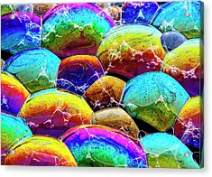 Acrylic Print featuring the photograph Shiney Bubbles by Jean Noren
