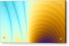Shiny Rainbow Acrylic Print by Jhoy E Meade