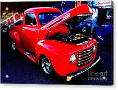 Shiny Red Ford Truck Acrylic Print