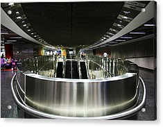 Shiny Singapore Stainless Steel Underground Station Acrylic Print by Jane McDougall