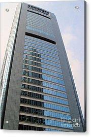 Shiodome Media Tower Tokyo Acrylic Print