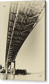 Ship Canal Bridge Old Yellow Acrylic Print