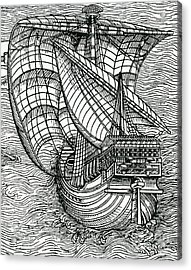 Ship From The Time Of Christopher Columbus Acrylic Print