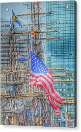 Ship In Baltimore Harbor Acrylic Print by Marianna Mills