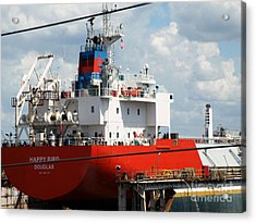 Ship In Tampa Harbor Acrylic Print by Rose  Hill