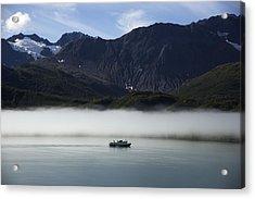 Ship In The Fog Acrylic Print