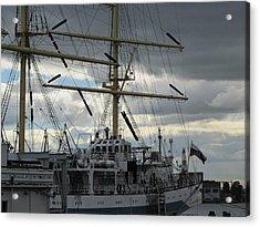 Acrylic Print featuring the pyrography Ship Masts by Yury Bashkin