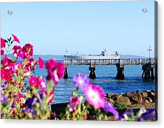 Acrylic Print featuring the photograph Ship On The Pier by Sergey  Nassyrov