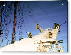 Ship Reflection Photo Acrylic Print by Peter J Sucy