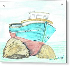 Ship Wreck Acrylic Print by Terry Frederick