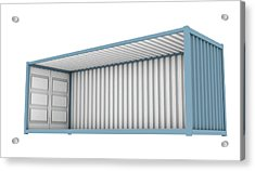 Shipping Container Cutaway Acrylic Print
