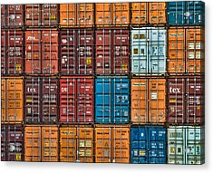 Shipping Containers Acrylic Print