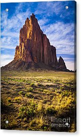 Shiprock Acrylic Print by Inge Johnsson