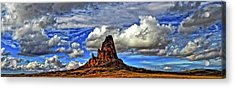 Acrylic Print featuring the photograph Shiprock Panorama by Scott Mahon