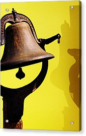 Ship's Bell Acrylic Print by Rebecca Sherman
