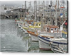 Ships In The Harbor Acrylic Print
