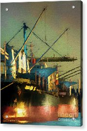 Ships Acrylic Print by Marvin Spates
