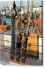 Ship's Rigging Acrylic Print by Nancy Taylor