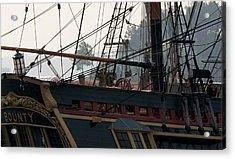 Ships Wheel And Rigging Acrylic Print