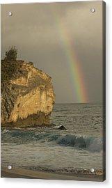 Shipwreck Beach Rainbow Acrylic Print