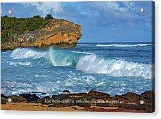 Shipwreck Beach Shorebreaks 2 Acrylic Print