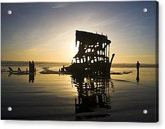 Shipwreck On Oregon Coast Acrylic Print