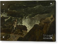 Shipwrecked On A Beach Acrylic Print by Theodore Gericault