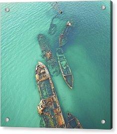 Shipwrecks Acrylic Print