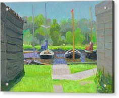 Shipyard After The Rain  Acrylic Print by Ben Rikken