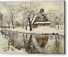 Shirakawa Go Acrylic Print by Matthew Phinn
