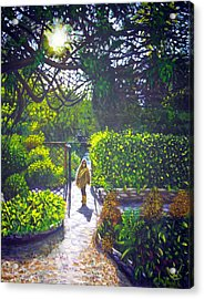 Shirley At Chalice Well Acrylic Print