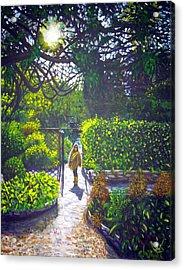 Shirley At Chalice Well Acrylic Print