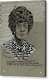 Shirley Chisholm Acrylic Print