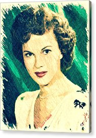 Shirley Temple By John Springfield Acrylic Print