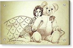 Shirley Temple Acrylic Print by Linda Simon