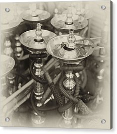 Shisha Pipes In Qatar Retro Acrylic Print