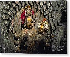 Shiva And Parvati - Pattan Royal Palace Nepal Acrylic Print by Craig Lovell