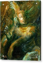 Shiva Lord Of The Dance Acrylic Print by Ann Radley