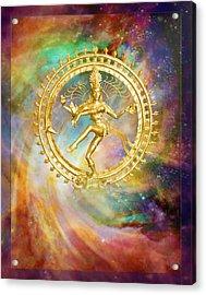 Shiva Nataraja - The Lord Of The Dance Acrylic Print by Ananda Vdovic