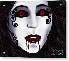 Shock At First Bite Acrylic Print by Roxy Riou